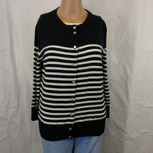J crew button down sweater cardigan size large